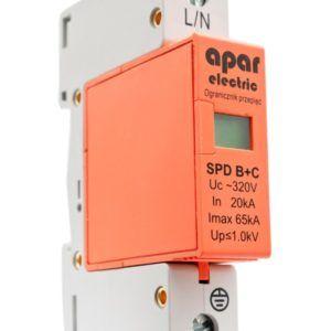 Ogranicznik przepięć ochronnik SPD B+C 1P APAR ELECTRIC