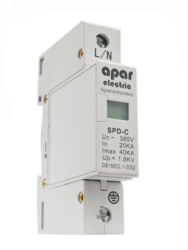 Ogranicznik przepięć ochronnik typ C 1P APAR ELECTRIC