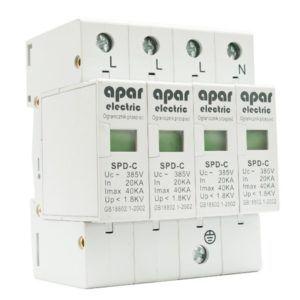 Ogranicznik przepięć ochronnik typ C 4P APAR ELECTRIC