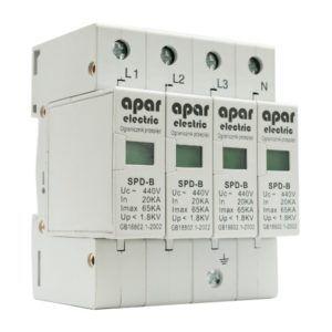 Ogranicznik przepięć ochronnik typ B 4P APAR ELECTRIC