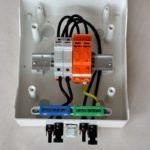 Rozdzielnia PV Ogranicznik 500 PV Bezpiecznik 10A