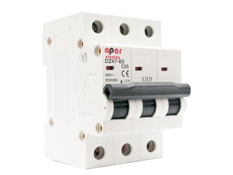 Wyłącznik nadprądowy C10 3P APAR ELECTRIC 3-fazowy
