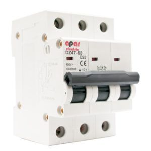 Wyłącznik nadprądowy B10 3P APAR ELECTRIC 3-fazowy