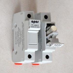 Bezpiecznik PV topikowy 15A DC 10x38 podstawa bezpiecznikowa