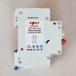 20A 550V 2P DC Wyłącznik nadprądowy PV