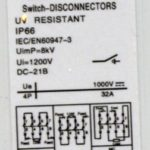 Rozłącznik izolacyjny główny wyłącznik DC 4P 32A
