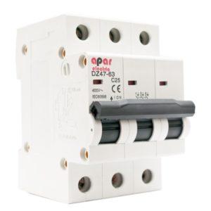 Wyłącznik nadprądowy C63A 3P APAR ELECTRIC 3-fazowy