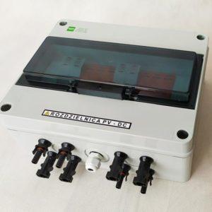 Zestaw rozdzielnica AC + DC standard 1 faz 2 mppt